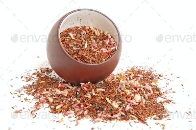 Cup of tea leaves