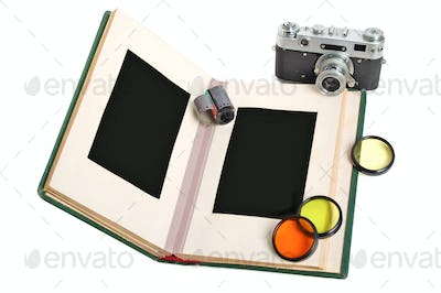 Photo album and camera