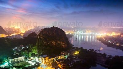 beautiful landscape in Guilin