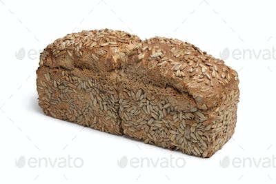 Loaf of spelt bread with sunflower seeds
