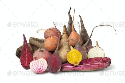Variety of multi Colored beets