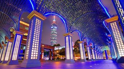 Downtown Taipei, Taiwan Cityscape