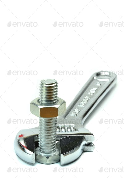 Adjustable Wrench and Bolt