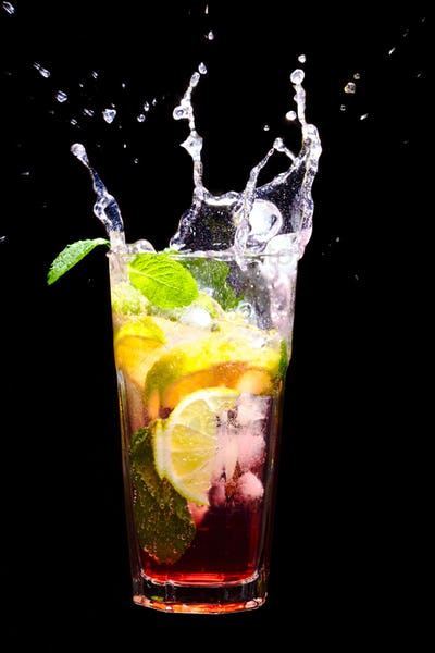 Splashing Mojito Cocktail