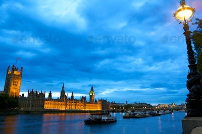 Houses of Parliament over Thames