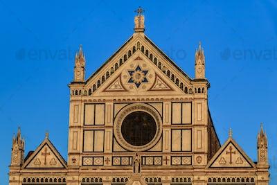 Church of basilica Santa Croce in Florence, Italy.