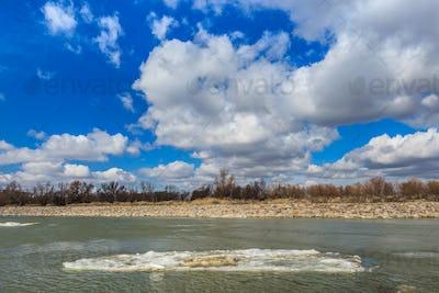 river channel in Danube Delta