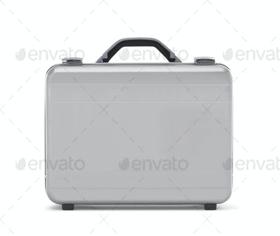 Metal case isolated on the white background 'clipping path)