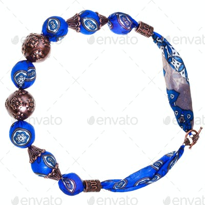 blue silk women necklace