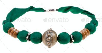 handmade silk women's necklace