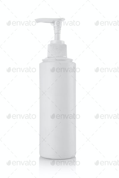 Plastic pump soap bottle