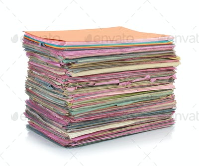 Stack of folder files