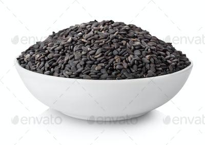 Black sesame in plate