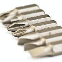 steel screwdriver tips of different types interchangeable