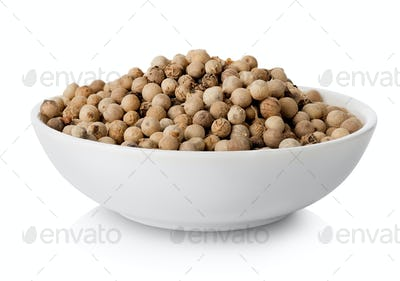 White pepper in plate