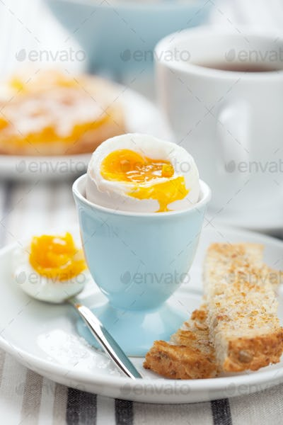 boiled egg for breakfast