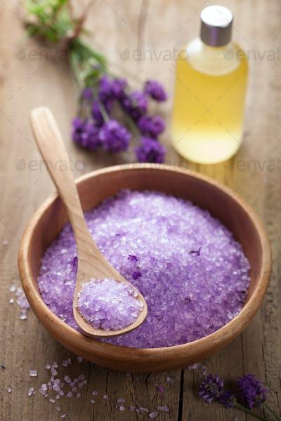 lavender salt and essential oil
