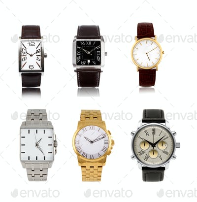 a set  different mens watches