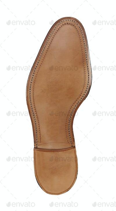 Rubber sole of a men's shoe