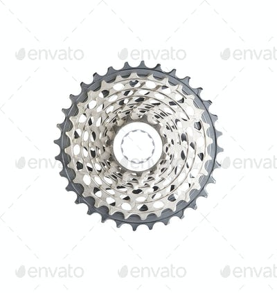 bike cassette top view