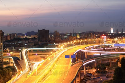 Viaduct and the city