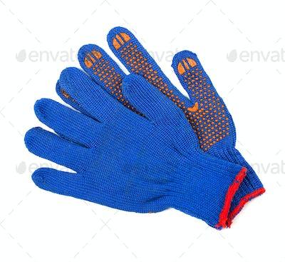 Work gloves on white