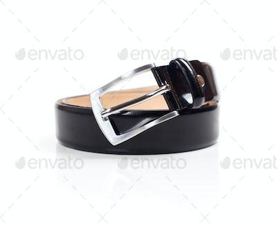 Black belt on a white