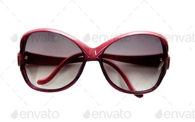 Red rimmed vintage sunglasses