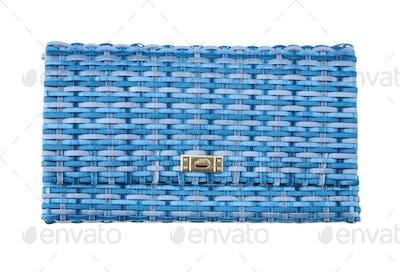 Blue weave handbag