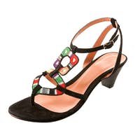 Ethnic knit heel sandal