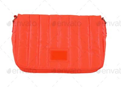 Orange padded textile purse