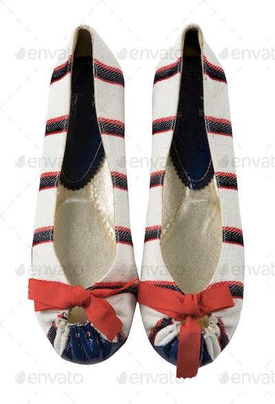 Sailor ballerinas with red bow