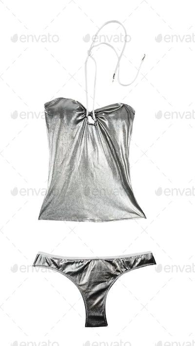 Silver metallized bikini