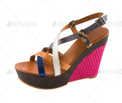 Wedged flatform sandal
