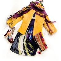 Sequins dress fashion composition