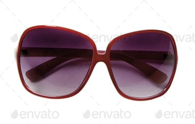 Red rimmed sunglasses