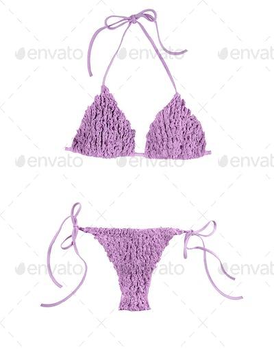 Frilly purple bikini