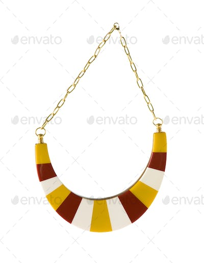 Striped arched chain collar