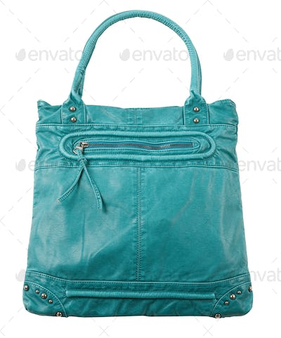 Turquoise studded leather purse