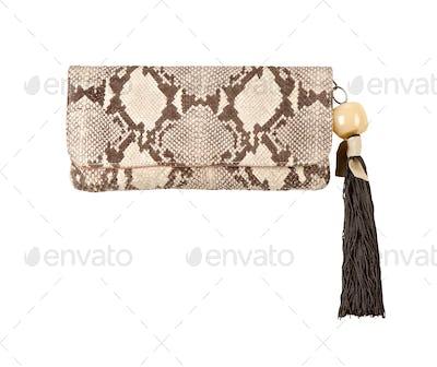 Python handbag with tassel