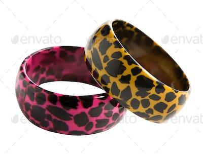 Animal print colourful bracelets