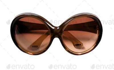 Big brown rimmed vintage sunglasses