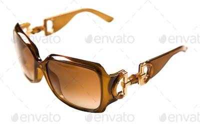 Caramel color rimmed sunglasses