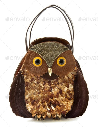 Owl imitation leather tote