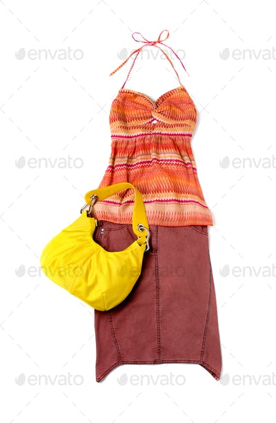Ethnic empire line styling fashion composition