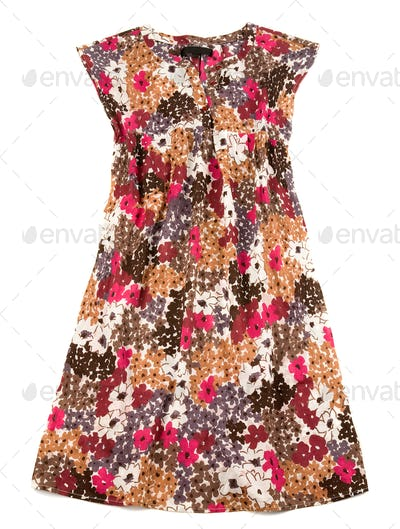 Sleeveless small flowers wide dress
