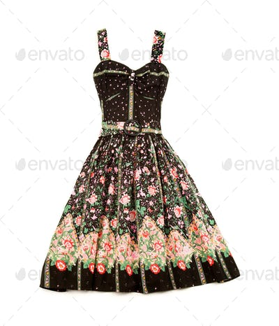 Flowery evase sweetheart dress