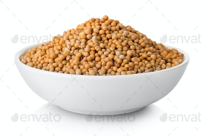 Mustard seeds in plate