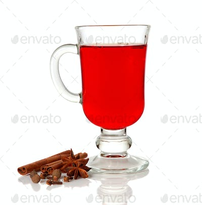Mulled wine and spice