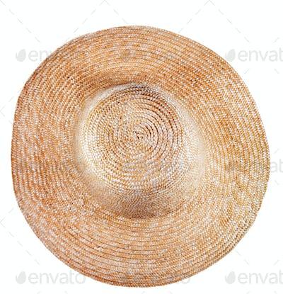 simple rural straw broad-brim hat